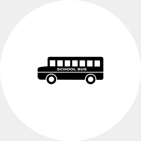 topics: School bus with inscription on board. Study, transportation, knowledge. School concept. Can be used for topics like education, teaching, training, transport.