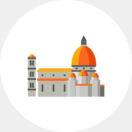 maria: Icon of Santa Maria del Fiore church. Gothic building, cathedral, sight. Italy concept. Can be used for topics like architecture, culture or religion