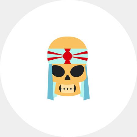 kamikaze: Skull of Kamikaze with Bandage Icon