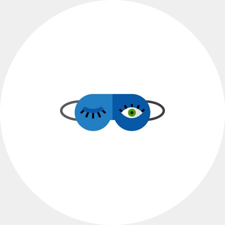 Sleeping Mask Icon Illustration