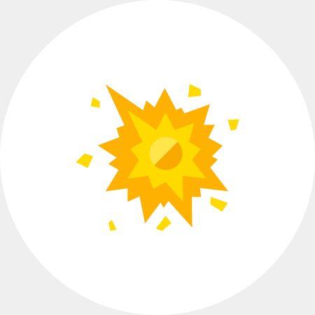 smash: Smashed Spot with Splashes Icon
