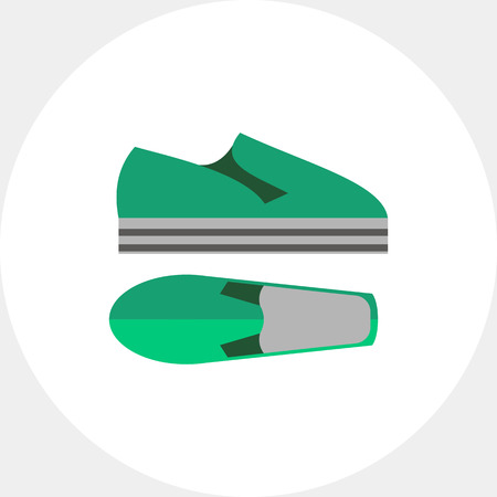 unisex: Modern summer shoes. Foot, style, unisex. Summer footwear concept. Can be used for topics like summer, vacation, footwear.