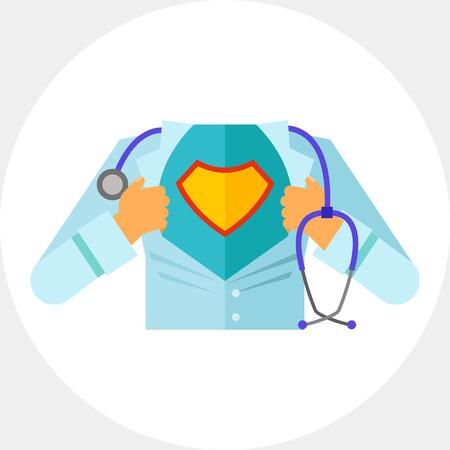 Super doctor icon