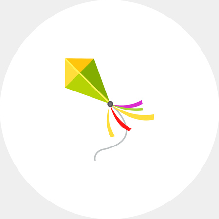 the topics: Illustration of kite flying. Entertainment, leisure activity, summer, childhood. Leisure activity concept. Can be used for topics like toys, leisure activity, entertainment Illustration