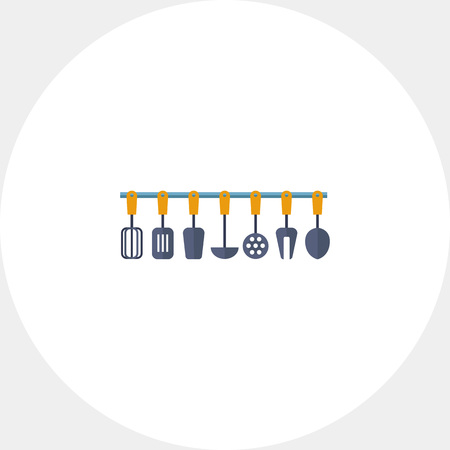 heatproof: Multicolored vector icon of kitchen tools set Illustration