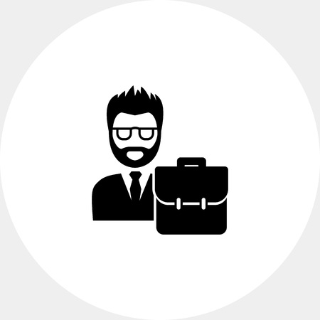 jurisprudencia: Man wearing suit with briefcase. Law, trial, defense. Lawyer concept. Can be used for topics like jurisprudence, criminality, business.