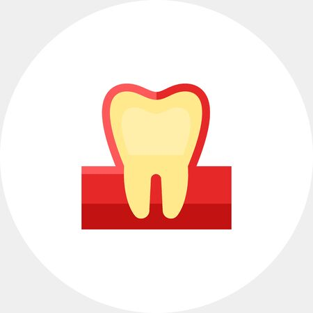 Tooth illustration. Healthy tooth, hygiene, stomatology. Dental care concept. Can be used for topics like stomatology, health, hygiene Illustration