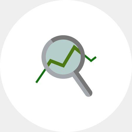 uptrend: Magnifying glass with graph