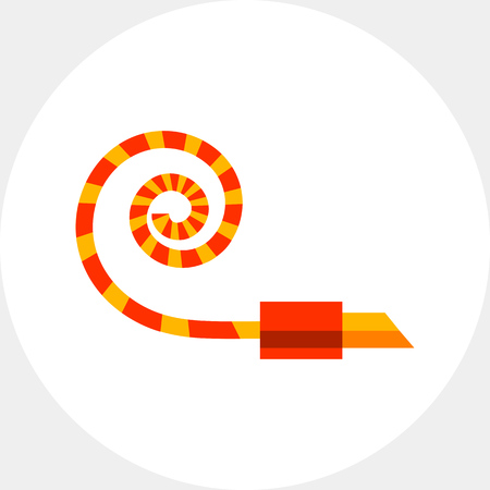 Multicolored vector icon of noisemaker blower horn
