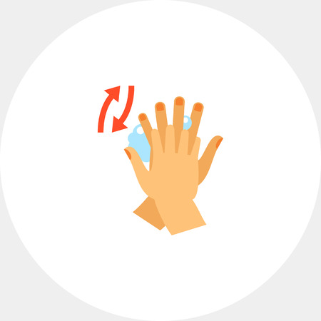 Hands rubbing between fingers. Clean, soap, habit. Washing hands concept. Can be used for topics like hygiene, health, healthcare.