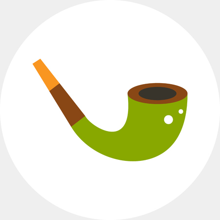 Smoke pipe. Tobacco, addiction, antique. Smoking concept. Can be used for topics like smoking, health, business. Illustration