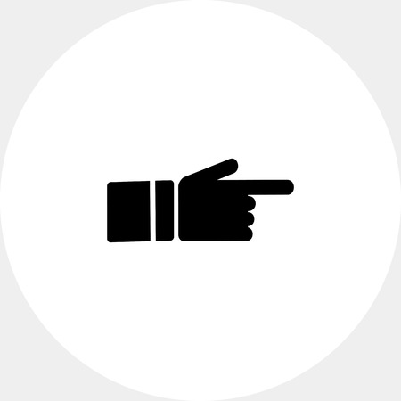 index finger: Monochrome simple icon of showing index finger Illustration