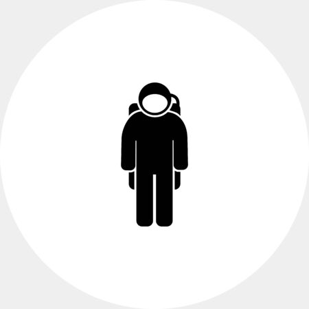 topics: Spaceman wearing spacesuit. Space, orbit, weightlessness. Spaceman concept. Can be used for topics like cosmonautics, technology, science.