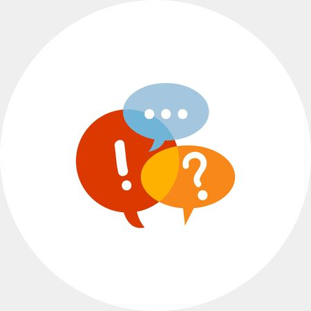 Three speech bubbles. Discussion, chat, message. Speech bubbles concept. Can be used for topics like communication, social media, marketing. Illustration