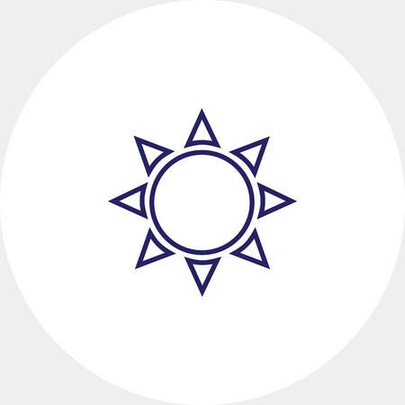 Icon of sun with beams Illustration