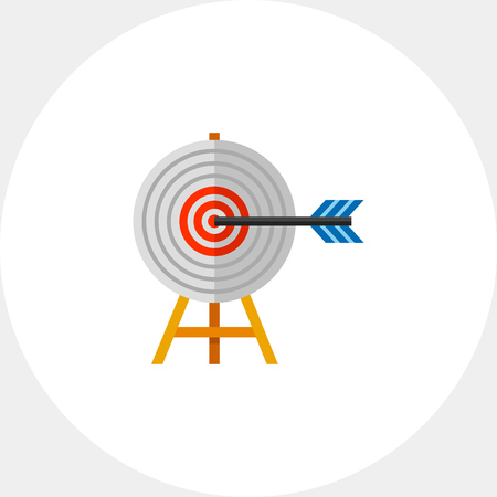 excellence: Targeting Concept with Arrow Icon
