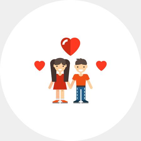 Teenage couple icon