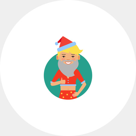 teenage girl: Teenage girl wearing Santa costume