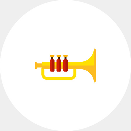 Shiny trumpet icon Illustration