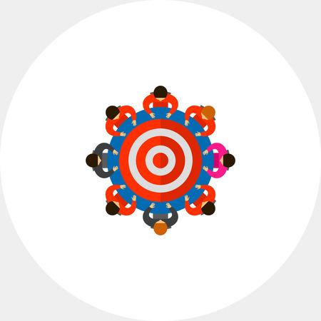 Team around Table as Target Icon