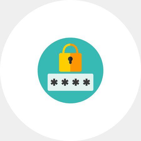 contraseña: Secure password icon Vectores