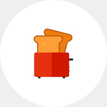 Toster z kromkami chleba