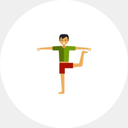 Hombre de pie haciendo yoga