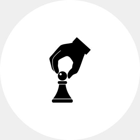 Tácticas simple icono Ilustración de vector