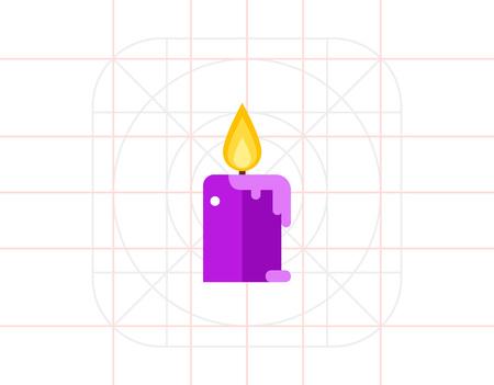 Aroma bougie avec l'icône de flamme
