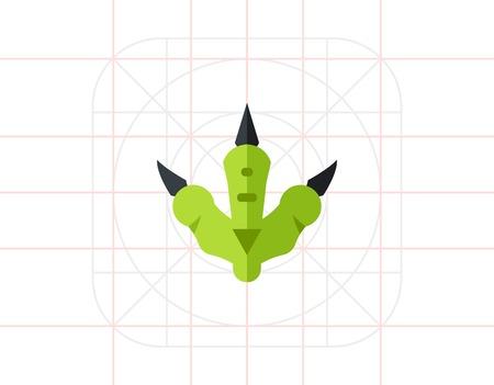 Dinosaur footprint icon