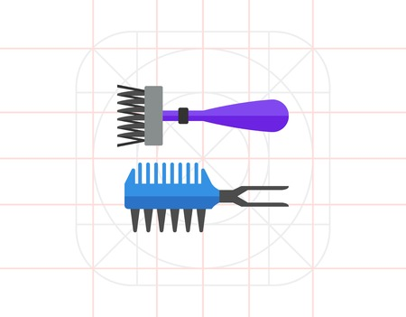 comb: Double-sided comb icon Illustration
