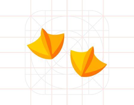 vogelspuren: Ente Fußabdruck Symbol