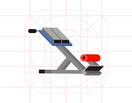 Fitness gym equipment icon