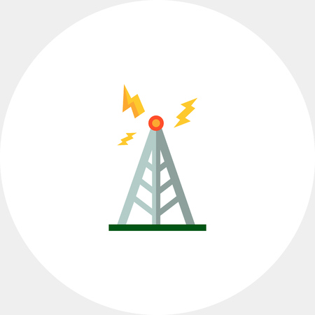 tv tower: Transmitting tower icon Illustration