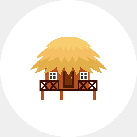 Tropical Bungalow Icon