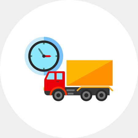 Truck and clock Icon