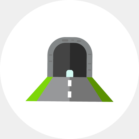 itinerary: Illustration of tunnel with road. Construction, traffic, route, diving. Road concept. Can be used for topics like traffic, construction, road, itinerary