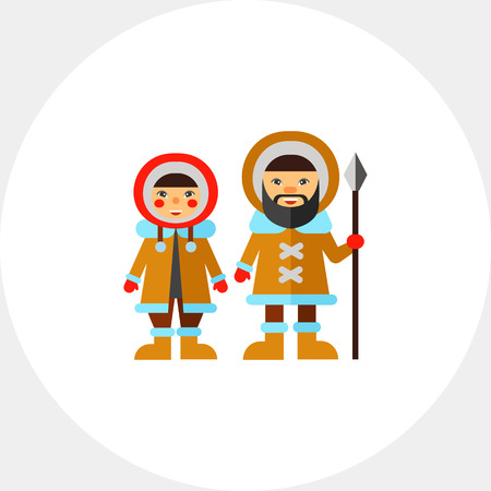 esquimales: Two Eskimos Icon