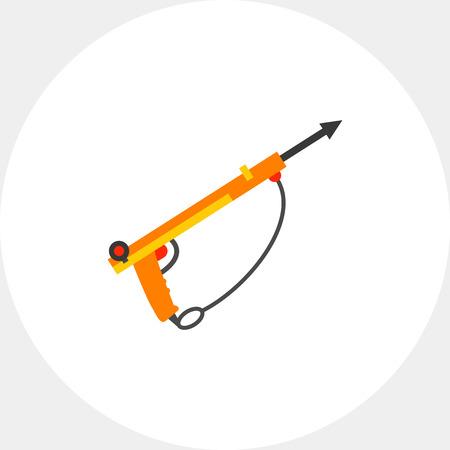 Underwater Speargun Icon Illustration