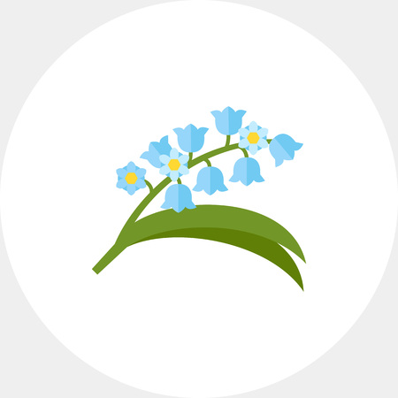 humility: Blooming lily of valley icon
