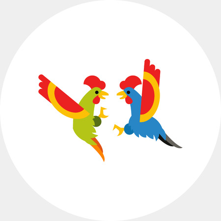 cockfighting: Cocks fighting icon