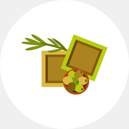 Handmade olive oil soap icon