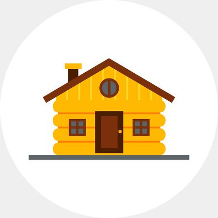 Wood Log House Icon
