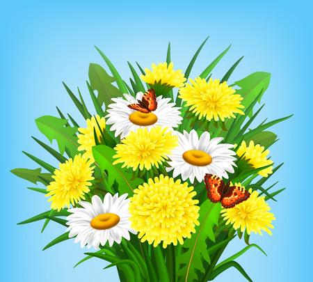 bunch: Bunch of Spring Wild Flowers