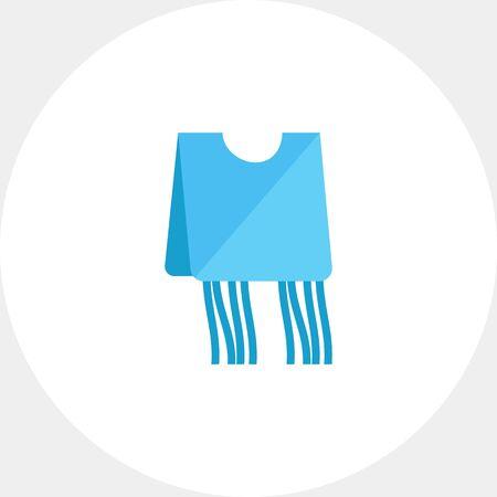Blue tzitzit garment icon Illustration