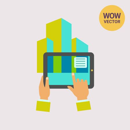 Augmented reality flat icon