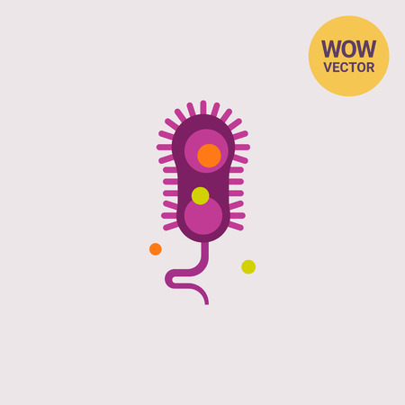 Bacteria with flagella icon