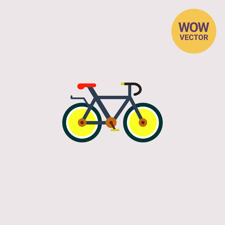 Bicycle with Yellow Wheels Icon