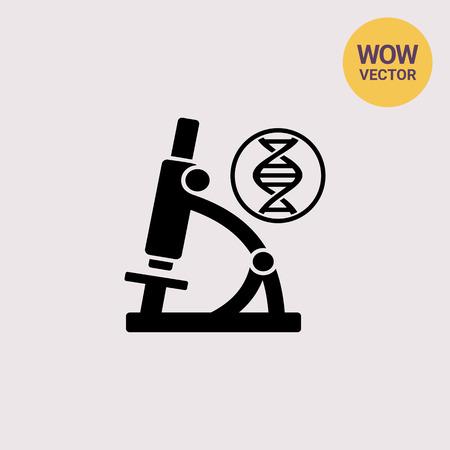 Biology simple icon Illustration