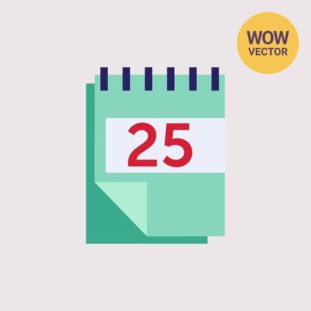 folded paper: Block calendar Illustration